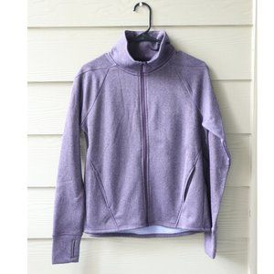 Champion Purple Athletic Collar Zip Up Sweater